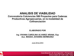 ANALISIS CONVOCAT 586 CADENAS AGROPECUARIAS