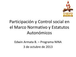 Participación y Control social en el Marco Normativo y
