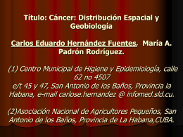 OK Cancer distribuvion espacial y geobiología