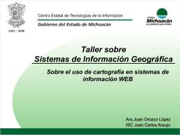 Taller sobre Sistemas de Información - ciapem
