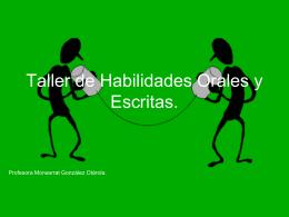 Taller de Habilidades Orales y Escritas.