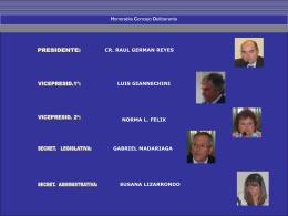 Autoridades del concejo - Honorable Concejo Deliberante de