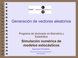Generación de vectores aleatorios