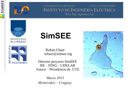 Uruguay Generación energía eléctrica. 2012