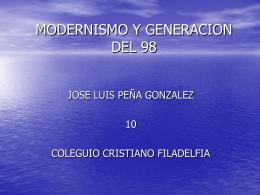 MODERNISMO Y GENERACION DEL 98