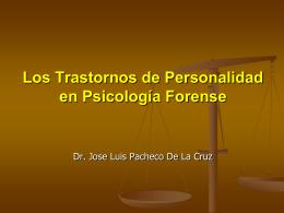 Los Trastornos de Personalidad en Criminología