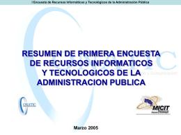 Resumen Primera Encuesta Recursos Informáticos y Tecnológicos