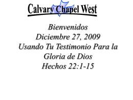 break through - Calvary Chapel West