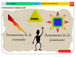 El fenómeno religioso (III)