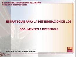 valoración - Archivo General de la Nación