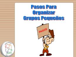Pasos para organizar los GPs - Ministerio Personal y Grupos