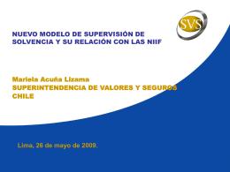 Camino SVS hacia IFRS - Superintendencia de Banca y Seguros