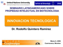 La innovación de productos biofarmacéuticos: perspectiva económica