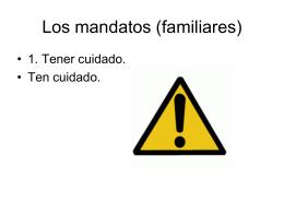 Los mandatos (familares)