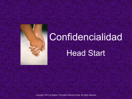 Confidentiality - Region VII Education Service Center