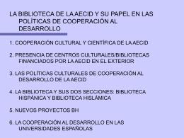 presentación de Araceli García