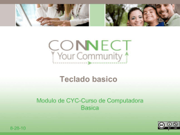 Teclado basico - Connect Your Community 2.0