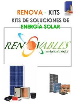 RENOVA - KIT PLANTAS SOLARES