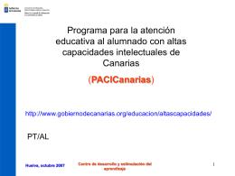Programa para la atención educativa al alumnado con altas
