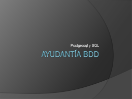 Ayudantía BDD 2