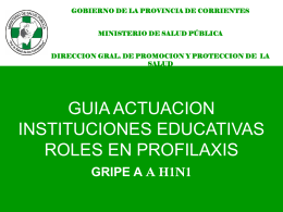 Guía Actuación Profilaxis - Ministerio de Salud Pública
