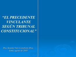 Jurisprudencia y precedente constitucional