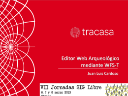 Editor WEB Arqueológico mediante WFS-T