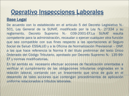 Operativo Inspecciones Laborales