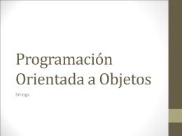 Programación Orientada a Objetos Introducción a POO