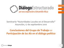 GT1 Taller 1-Participación de las AL en el diálogo político