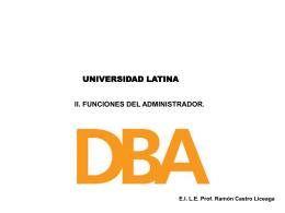 funciones del administrador - Docencia FCA-UNAM