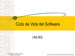 2.1Ciclo de Vida del Software