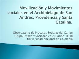 Movilizacón y Movimientos Sociales