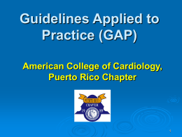 Introduction - American College of Cardiology Puerto Rico Chapter