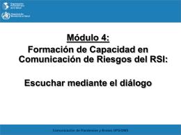Comunicación de Pandemias y Brotes OPS/OMS