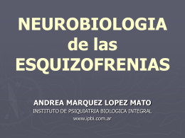 esquizofrenia neurobiologia 2011 def