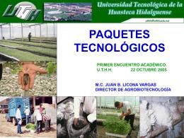 Paquetes tecnológicos - Universidad Tecnológica de la Huasteca