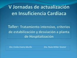 El paciente crítico: Tratamiento intensivo, criterios de estabilización