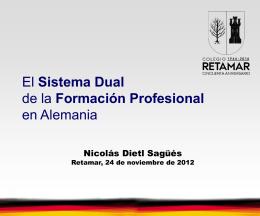 El Sistema Dual. - Formación Profesional Retamar