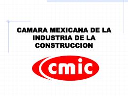 comision nacional del agua - Cámara Mexicana de la Industria de la