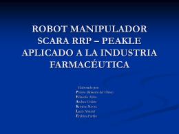 robot manipulador scara rrp aplicado a la industria farmacéutica