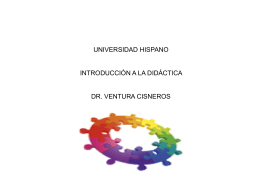 Unidad I - Introducción a la Didáctica