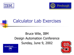 Wile`s Calculator Labs