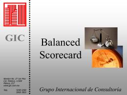 Comentarios de Balance Scorecard