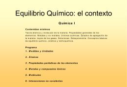 Equilibrio Químico - materias.unq.edu.ar