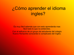 ¿Cómo aprender el idioma ingles? - english-spanish