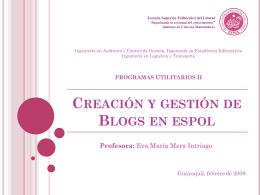 Diapositiva 1 - Blog de ESPOL - Escuela Superior Politécnica del