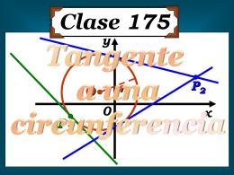 Clase 175: Tangente a una Circunferencia