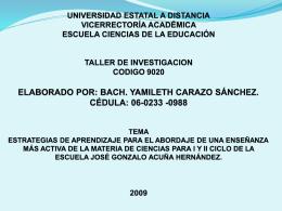 PRESENTACION TRABAJO DE INVESTIGACION