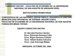 Presentación del proyecto por parte de la Universidad San Agustín